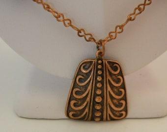 593 - Copper Focal Pendant w/Ceramic