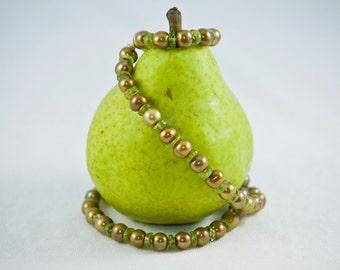 Godiva Pearls and Peridot Gemstone Necklace
