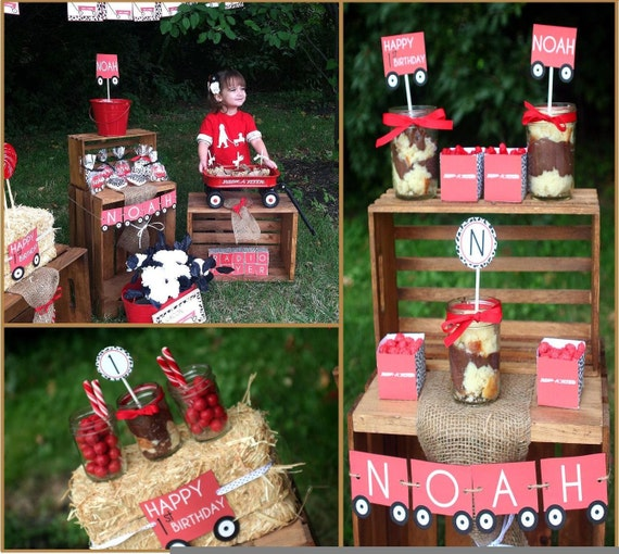 Radio Flyer Baby Shower Decorations Red Wagon by MimisDollhouse