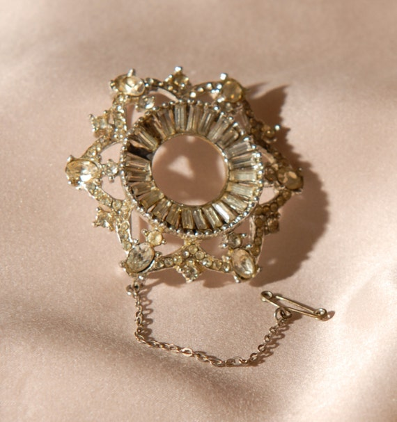 Repair - Star Art Deco Vintage Brooch, Pin, 1930's, Paste Stone, Jewlery, Jewellery