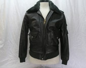 Vintage 80's WILSONS Suede & Leather A-2  Flight Bomber Jacket - mens size 36