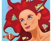 La Sirena, 8x10 Art Print