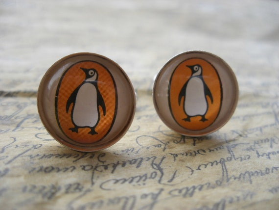 Unique Penguin Books Cufflinks Made With Vintage Paperback Covers- Mens Fashion Cuff Links- Literary Gift for Him