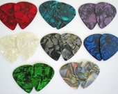 Guitar Pick Earring Set -Three Pair - Pick Your Color - Pearloid/Fender