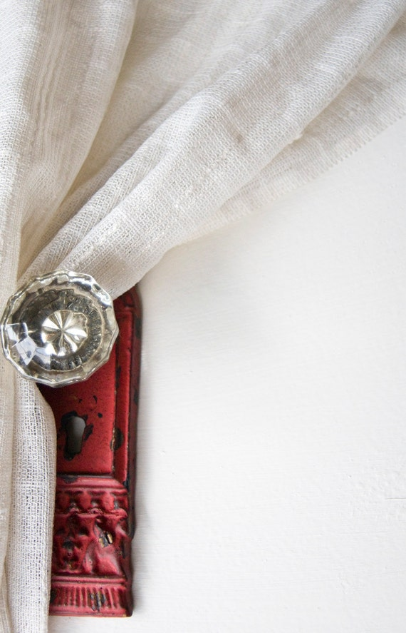 Vintage Crystal Door Knob Hook