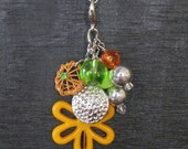 "Interchangeable Necklace Charm, Cluster.  ""Orange Blossom"""