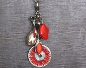 "Interchangeable Necklace Charm, Cluster ""Ruby Red"""