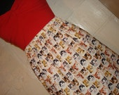 Crazy Cat Lady Skirt - Kitten Face Skirt -  Cat Print Skirt - High Waisted Mini- Handmade & Ready to Ship