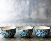 Vintage Tin Toy Teacups