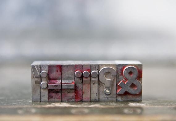 Vintage Punctuation Letterpress