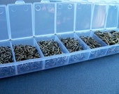 1 Box Set Bronze Jump Rings Assorted Sizes 4mm - 9mm 1500 pieces