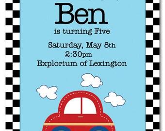 Beep Beep Birthday Invite
