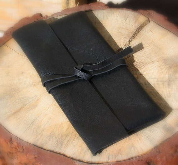 Leather Clutch in Black - Introductory Price
