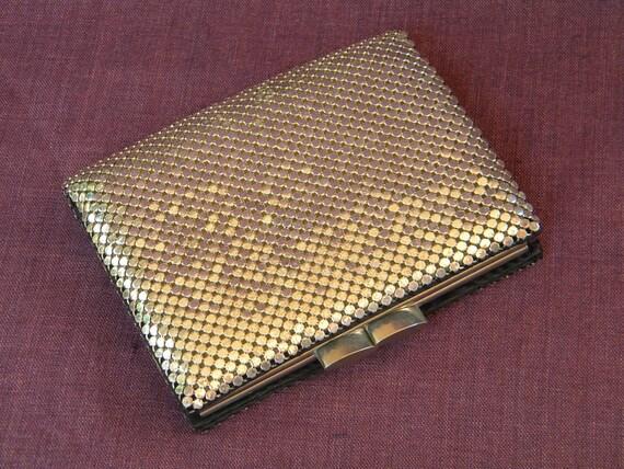 Glamorous Vintage 1970's Silver MESH Wallet Billfold WHITING & DAVIS
