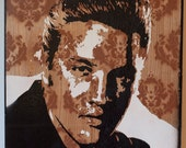 Young Elvis Multilayer Graffiti Stencil Art Painting