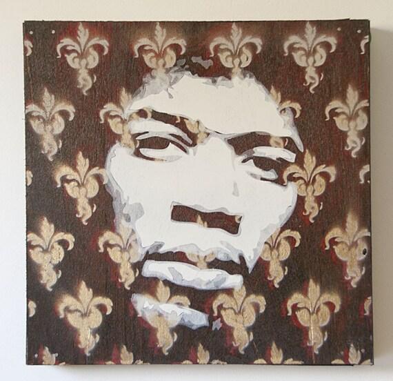 Jimi Hendrix Multilayer Graffiti  Stencil Art Painting