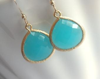 Mint Earrings, Blue Earrings, Aqua Earrings, Aquamarine Gold Filled, Wedding, Bridesmaid Earrings, Bridal Earrings Jewelry, Bridesmaid Gift