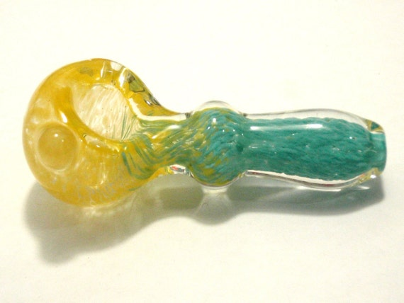 Hand Blown Glass Pipe lampwork Pipe - Inside Out - Thick Walled