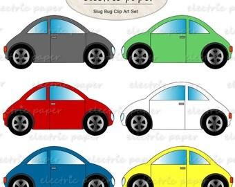 Cars VW Bug Clip Art - VW Beetle Clip Art Set - slug bug clipart Car  instant download