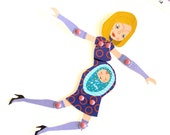 Violet, the moveable pregnant girl in violet dress - it's a boy