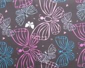 "W005 - Vinyl Waterproof Fabric - Butterfly - brow - 27"" x 19"" (70cm x 50cm)"