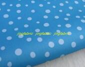 "W112A - Vinyl Waterproof Fabric - Dots - Blue  - 27"" x 19"" (70cm x 50cm)"