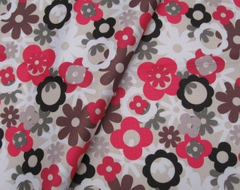 "Vinyl Waterproof Fabric - Flowers  - 27"" x 19"" (70cm x 50cm)"