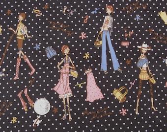 "W067 - Vinyl Waterproof Fabric - Fashion lady  - 27"" x 19"" (70cm x 50cm)"