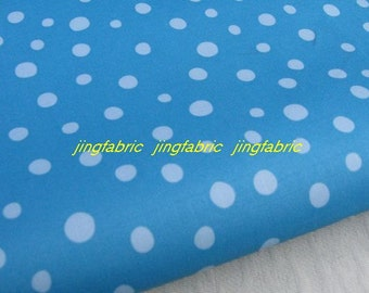 "W112A - Vinyl Waterproof Fabric - Dots - Blue  - 27"" x 19"" (70cm x 50cm)"