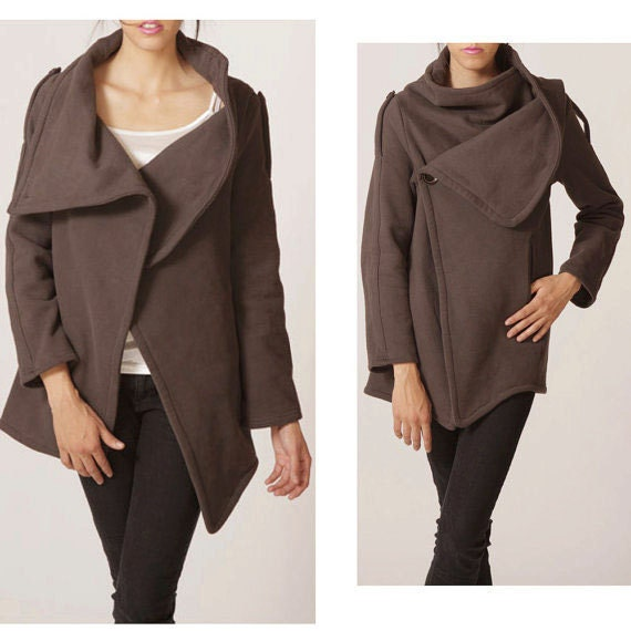 cotton jacket brown long sleeves coat coat dark brown