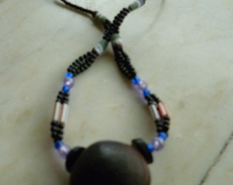 Vintage african necklace from Ciad, very beautiful