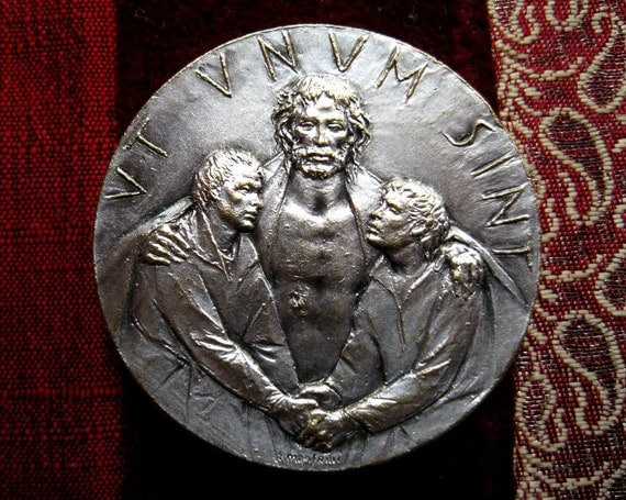 Reserved for Yannis- Christian Unity Medal -- That They Might Be One-- 1975 Silver Commemorative Coin Jubilee Year, Ecumenism