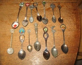 spoons collector souvenir  usa & international lot of 14 spoons