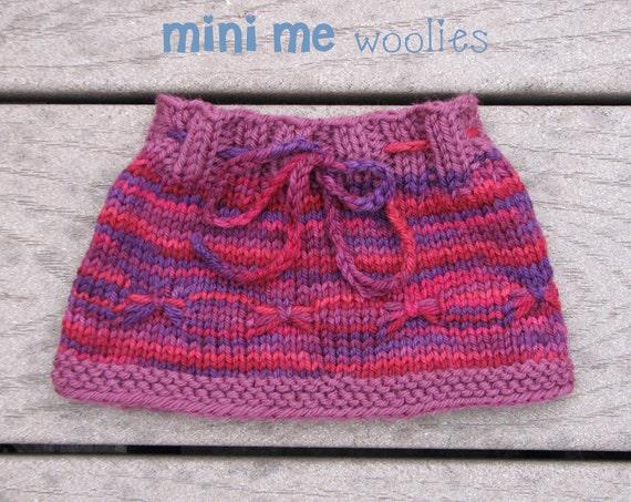 DIGITAL KNITTING PATTERN Flutterfly Doll Skirt by Mini Me Woolies. Fits Waldorf Dolls American Girl Dolls Bamboletta