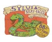 Sylvia the Silky-Faced Wonder - 8x10 Illustrated Print
