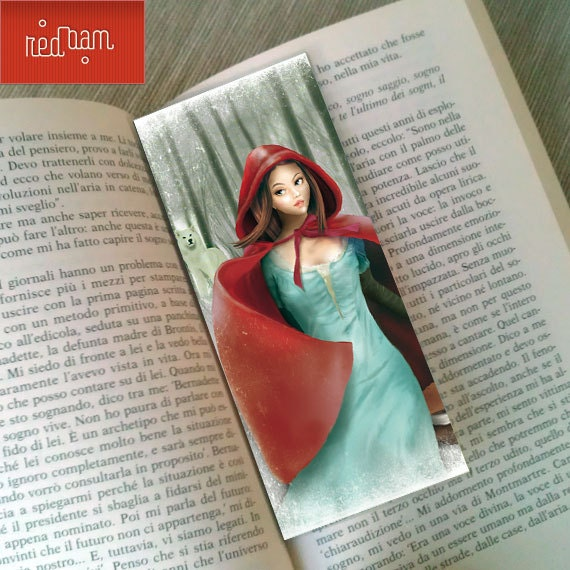 "Bookmark ""CAPPUCCETTO ROSSO"" (Red Riding Hood)"