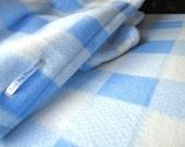 Pack N Play Sheet & Blanket Set: Handmade Fleece Bedding Set for Babies 'Blue Plaid' Print