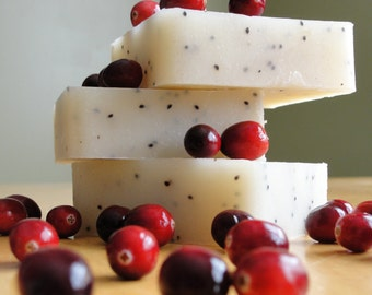 Cranberry Fig Shea Butter Soap, Handmade, All Natural, Cold Process Soap, Holiday