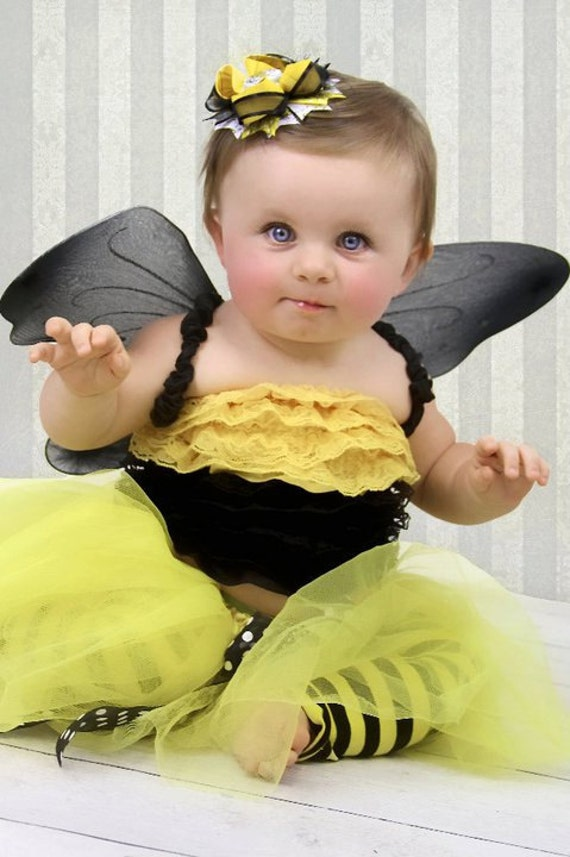 Items Similar To Bumble Bee Tutu Halloween Costume Children Girl Baby From Violets Velvet Box On Etsy