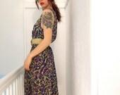 80's neon Pixelated Summer Dress Medium