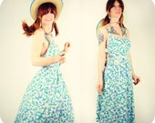 60's Ditsy Daisy Garden Dress DEADSTOCK