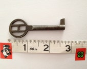 H topped Antique Silver European key