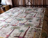 Exclusive Luxe Tropical Cotton Blend Bedspread-TREASURY ITEM On sale