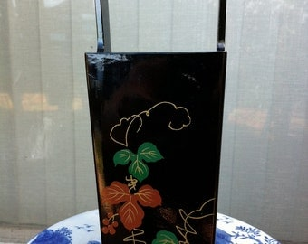 Vintage Japanese Black IKEBANA vessel Sale