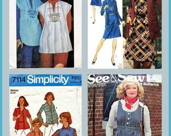 4 Vintage 1970's Sewing Patterns
