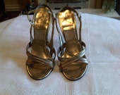 1950's Gold Leather Springolators - US 8 or UK 6