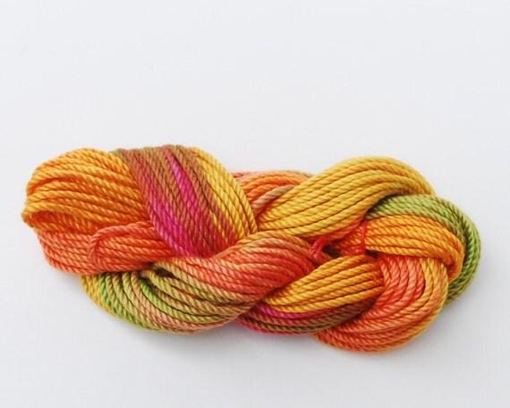 hand dyed tatting thread, crochet cotton, size 3