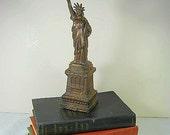Vintage STATUE of LIBERTY SOUVENIR Cast Metal New York Figurine Trinket