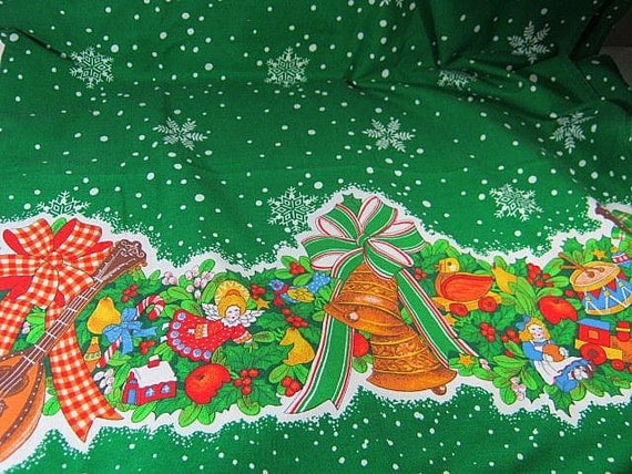 Christmas Toys Border : Sale christmas tablecloth holiday toy by lavendergardencottag