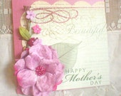 Pink Flower Mother's Day Card 2